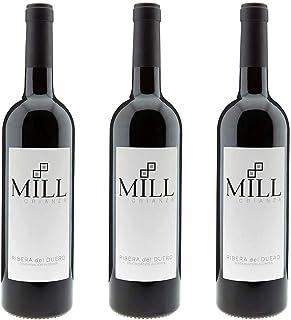 Mill - Vino Tinto Crianza - Ribera Del Duero Denominación De Origen (3 x 750 ml)