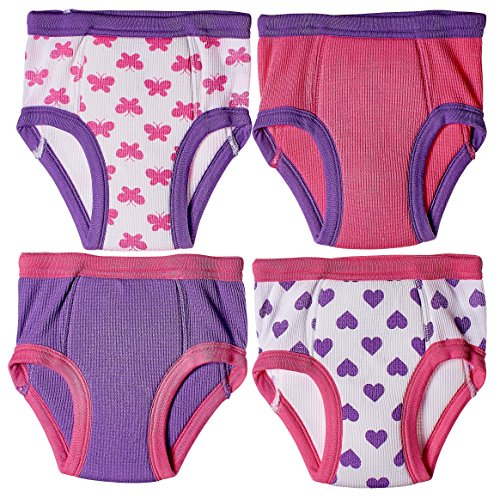 Trimfit Baby and Toddler Cotton Training Pants (Pack of 4 Kid Underwear)