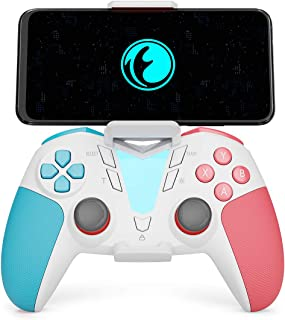 Mobile Game Controller for Call of Duty for Fortnitee, IFYOO ONE Pro Wireless Gaming Gamepad, Compatible with iPhone iPad iOS, Android Phone/Tablet/TV, PC Windows 10/8/7/Steam - White