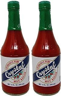 Bundle-2 Items : Crystal Hot Sauce Louisiana's Pure Hot Sauce, 12 Oz (Pack of 2)