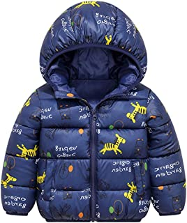 Minizone Niños Chaqueta con Capucha Abrigo de Invierno Ligeras Traje de Invierno