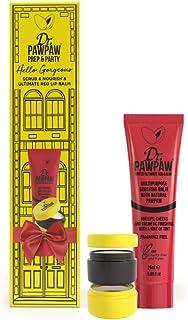 Dr. PAWPAW Prep & Party - Ultimate Red Lip Balm + Dr. PAWPAW Scrub & Nourish | 100% Natural, Vegan & Cruelty Free | Holida...