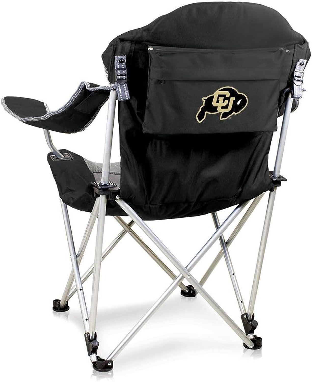 NCAA University of colorado Digital Print Reclining Camp Chair, Black, One Size