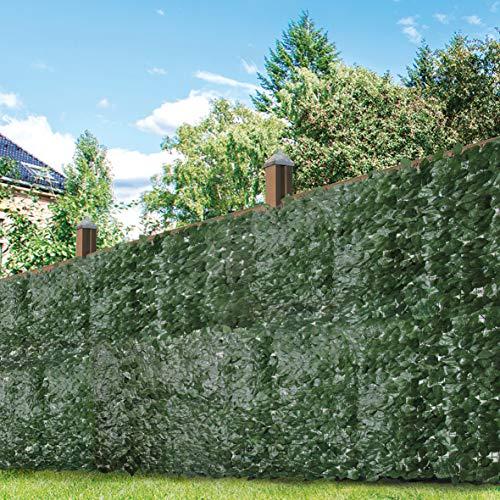 GardenKraft 26120 3x1m Efeu Dunkelgrün Künstliche Hecke Blätterhecke | Ausziehbarer Rahmen | UV-Schutz vor Ausbleichen | Sichtschutzhecke |Gartenhecke Gartengestaltung, Dark Ivy