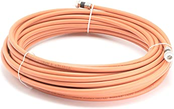 THE CIMPLE CO - 75 Feet Direct Burial Coaxial Cable- Proudly Made in The USA RG6 Coax Cable Rubber Boot - Outdoor Connectors - (Orange) - Designed for Waterproof and to Be Burried