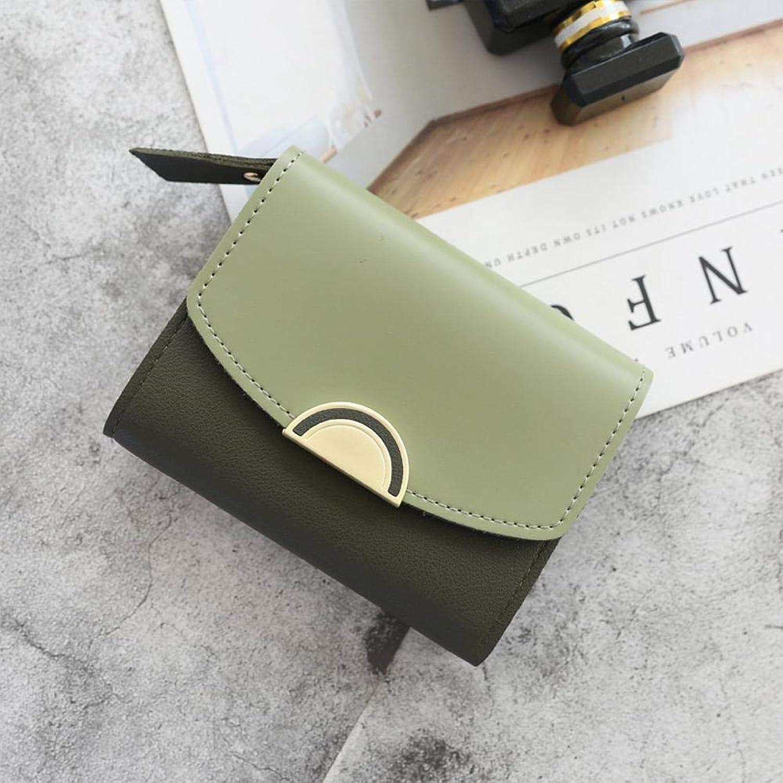 Girls Purse Women's Wallet,Women's SemiMetallic Decorative Buckle Contrast Cropped Junior Student Wallet (color   B)