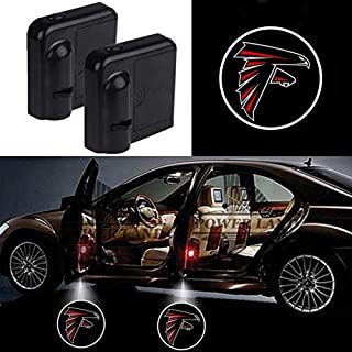 For Atlanta Falcons Car Door Led Welcome Laser Projector Car Door Courtesy Light Suitable Fit for all brands of cars