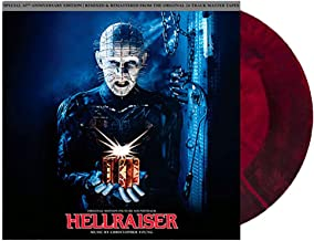 CHRISTOPHER YOUNG- HELLRAISER SOUNDTRACK 30TH ANNIVERSARY EXCLUSIVE RED AND BLACK STARBURST VINYL