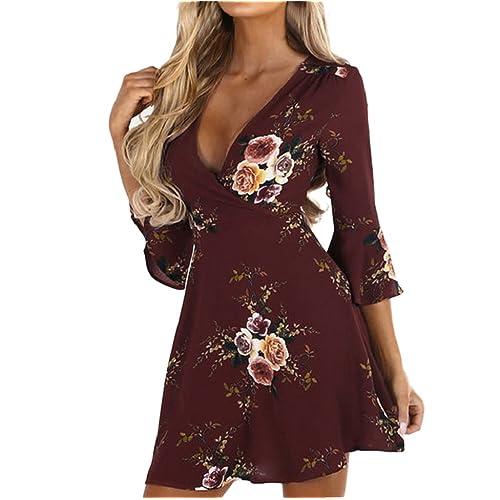 042f604593a2 Long Sleeve Wrap Dresses  Amazon.co.uk