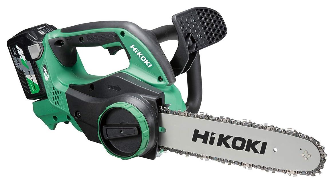 完璧宿真夜中HiKOKI(ハイコーキ) 旧日立工機 コードレスチェンソー 36V マルチボルト 充電式 リチウムイオン電池、急速充電器、予備電池付※蓄電池保証書、純正梱包箱付 CS3630DA(2XP)