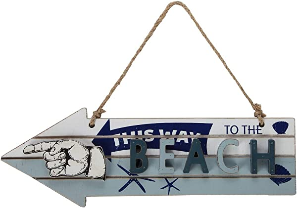 Lily S Home Vintage Beach Decor Arrow Sign This Way To The Beach House Decoration