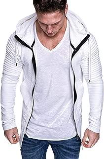 TTOOHHH Men Autumn Long Sleeve Pockets Hooded Sweatshirt Top Tee Outwear Pullovers