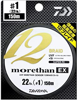 Daiwa Morethan 12 Braid 0,10mm 7,3kg 135m Lime Green Geflochtene Schnur
