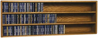 Cdracks Media Furniture Solid Oak Wall or Shelf Mount CD Cabinet Capacity 354 CD's Honey Finish