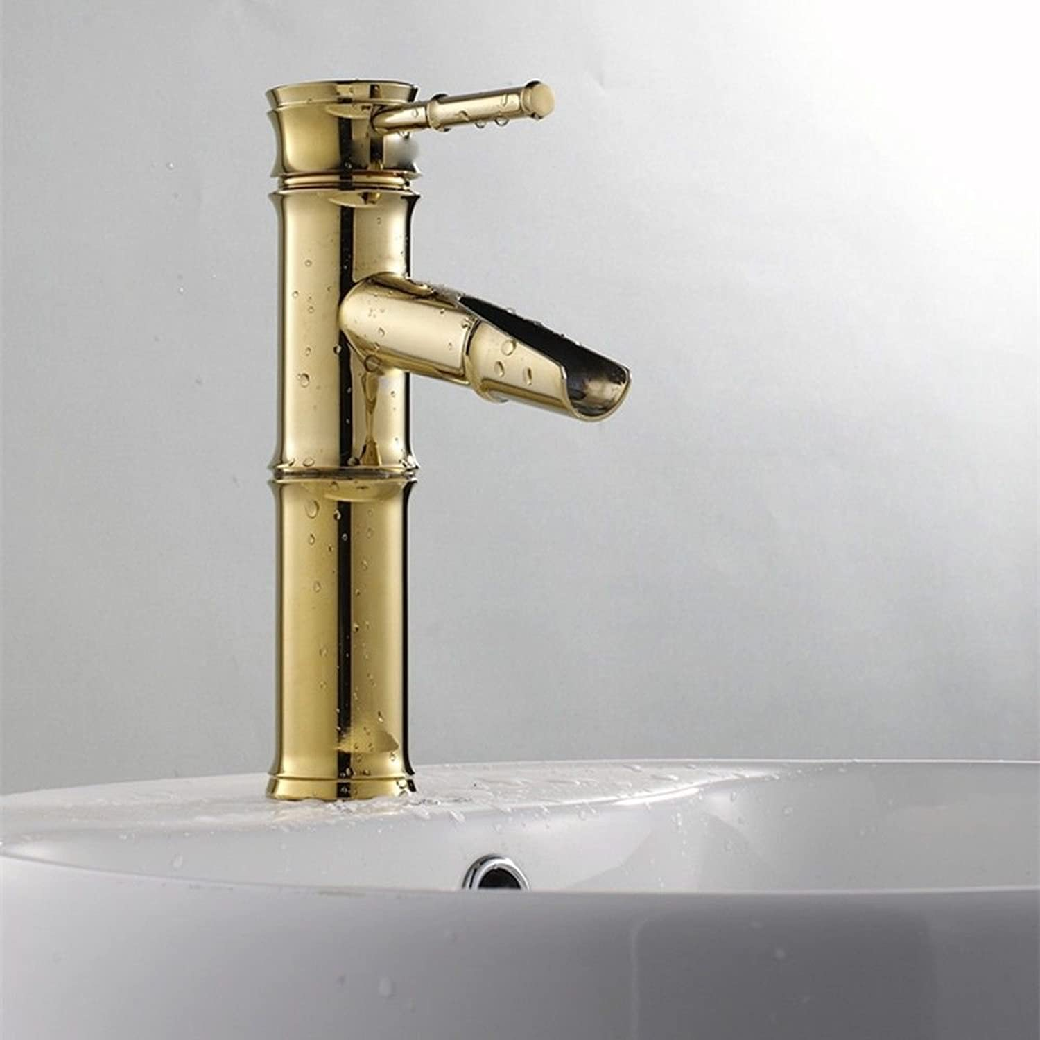 Hlluya Professional Sink Mixer Tap Kitchen Faucet The gold-copper bathroom faucets, water mix, low