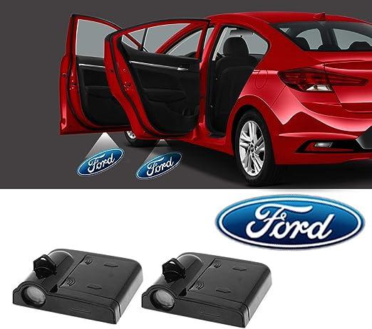 Details about  /2x LED Car Door Step Courtesy Welcome Light Shadow Puddle Emblem K1 For Fiat