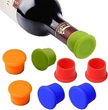 MUCHEN SHOP Tapones para Botellas,Tapones de Vino de Silicona 8 Pack Reutilizables Tapas de Botella de Vino de Color Sellador de Botella para Cerveza Champaña Alcohol espumoso
