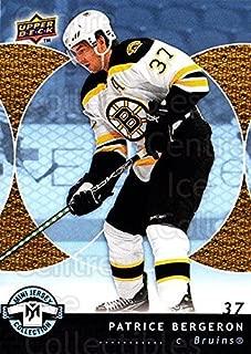 (CI) Patrice Bergeron Hockey Card 2007-08 UD Mini Jersey Collection 8 Patrice Bergeron