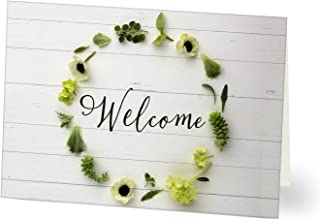 Hallmark Business Welcome Card for Customers (Welcome Wreathed in Green) (Pack of 25 Greeting Cards)