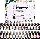 VSADEY Aceites Esenciales de Aromaterapia, Top 26 Juego de Aceites Esenciales 100% Puros y Naturales, Aceite Esencial para Difusores, para Sauna, SPA, Masaje, Baño, Caja de Regalo Ideal para Fiesta