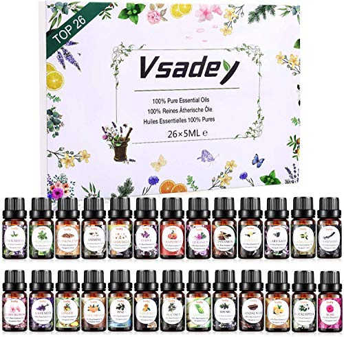 VSADEY Huiles Essentielles Aromathérapie, Top 26...