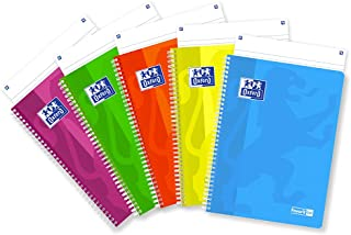 Favorit A4 Spiral Notebook, 90gsm Paper, Pack of 5, Assorted Fluo Colours 1R