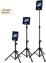 Rubik iPad Tripod Stand, Height Adjustable Foldable Floor Tablet Cradle Bracket Tripod Stand for Samsung, Apple iPad, iPad Mini and All Other 7-10 Inch Pcs With Carrying Case
