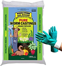 Wiggle Worm Soil Builder Worm Castings Fertilizer, 30 Pound, Organic Worm Casting for Gardening Manufactured by Unco Industries (Bundled with Pearsons Protective Gloves)