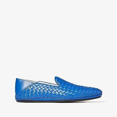 Bottega Veneta Fiandra Intrecciato Loafer (Electric Blue) Men