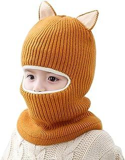 Ugitopi - Gorro de Invierno para bebé, niña, niño, Forro Polar, con Capucha de Punto