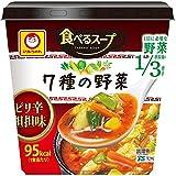 マルちゃん 食べるスープ 7種の野菜 ピリ辛担担味 カップ28g