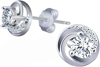 Swarovski Elements 925 Sterling Silver Studs Earrings JRosee Jewelry