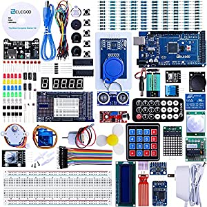 The MEGA complete starter kit with more than 200pcs components, premium quality and 100% Compatible with Arduino IDE Free pdf tutorial in the cd (more than 35 lessons) Lcd1602 module and gy-521 sensor module with pin header ( no need to solder by you...
