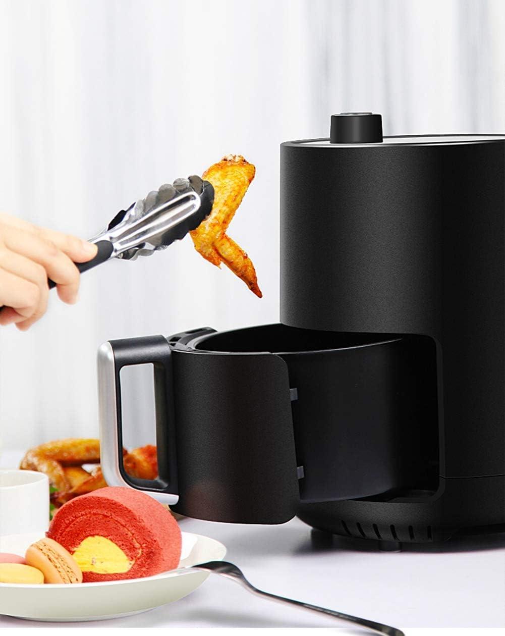 L.BAN Friteuse à air, kit d'accessoires de Luxe, 100 Recettes incluses, séparateur de Panier de Cuisson, Four à légumes sains, Blanc Pink