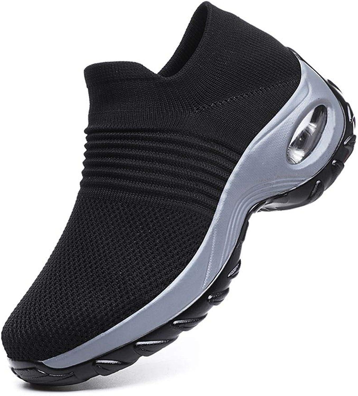 JiYe Womens Air Cushion Running shoes Walking shoes Fashion Casual Flyknit Sneakers