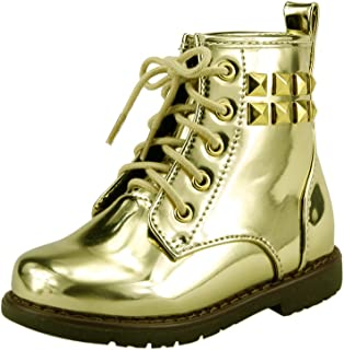 Unisex Boy's or Girl's Metallic Ankle Boots Booties Combat Punk Style Toddler Little Kids