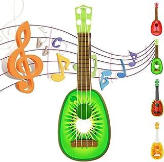 Cute Fruit Ukulele Guitar Toy for Baby Child Gift Music Dream Instrument with Gift Box (Kiwi)