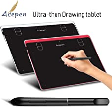 Acepen Ap604 6×4 In4mm Electronic Drawing Tablet Pad, Graphics Tablet, OSU Tablets with Battery-Free Stylus for PC Mac Computer (Red)