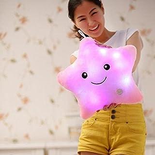 LED Estrella Almohadas Luminoso Suave Cojines Maravilloso