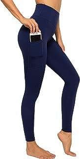 Womens High Waisted Athletic Capri Leggings Side Pockets Yoga PantsTummy Control