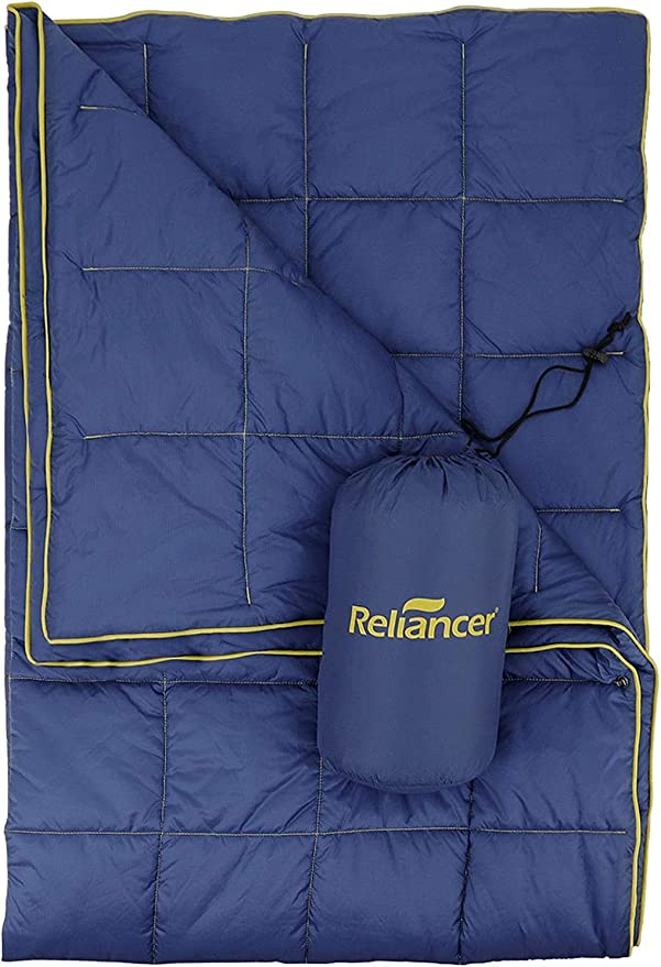 RELIANCER Puffy Camping Blanket Outdoor Ultralight Backpacking Quilt - Best Performance