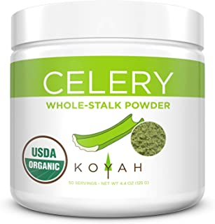 KOYAH - Organic USA Grown Celery Powder (1 Scoop = 1/2 Cup Fresh): 50 Servings, Freeze-dried, Whole-Stalk Powder