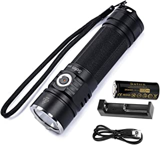 Sofirn SP33 Powerful LED Flashlight High 2500 Lumens, Cree XHP50.2 Pocket Light with 26650 Rechargeable Battery and Charger
