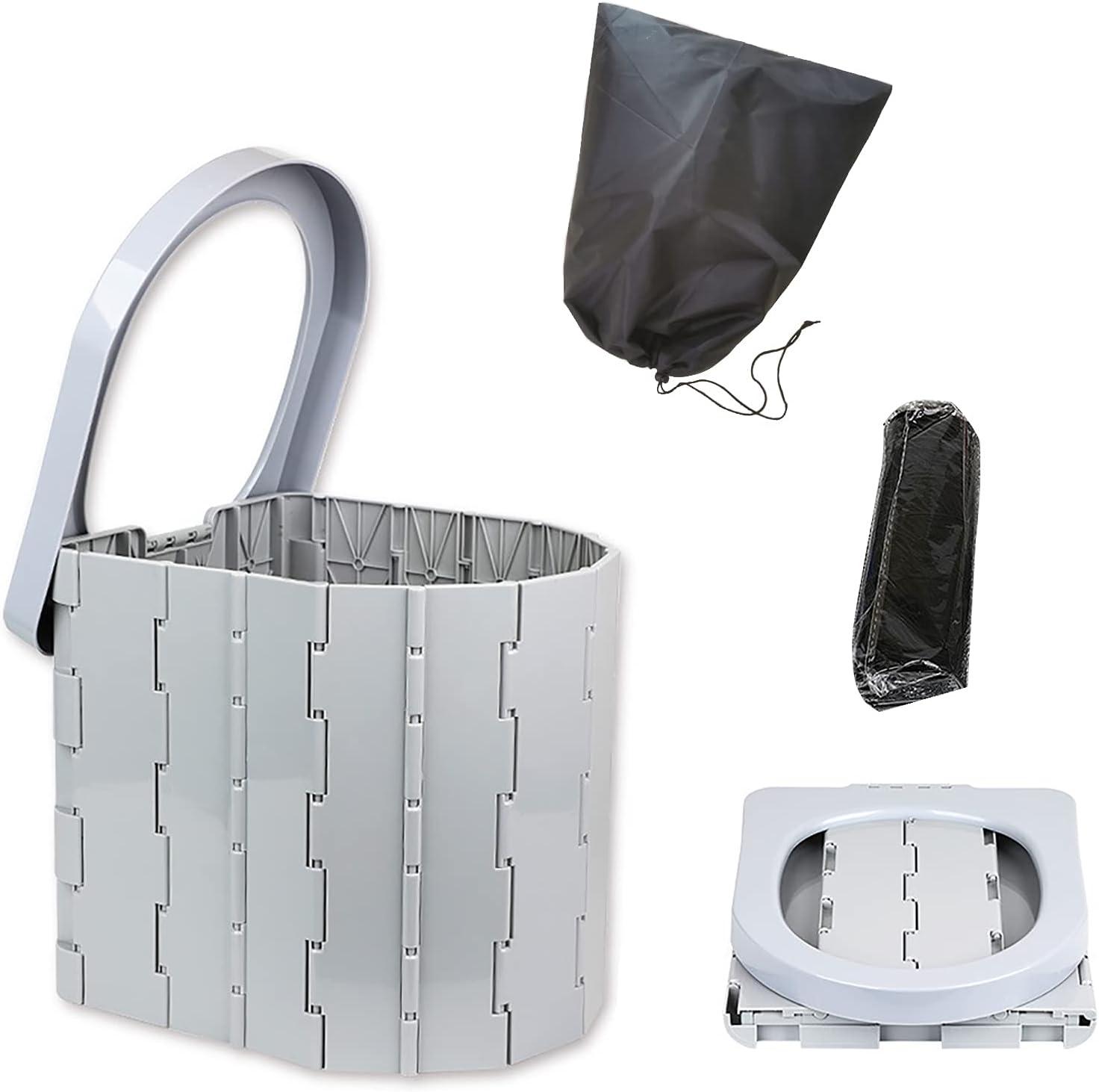 RSTYS Portable Elegant Folding Toilet Bucket Car Save money Travel C