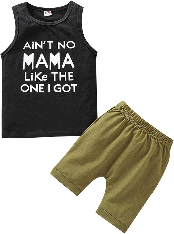 AvoDovA Max 77% OFF Toddler Baby boy Summer Tops and Shor Ultra-Cheap Deals Sleeveless Clothes
