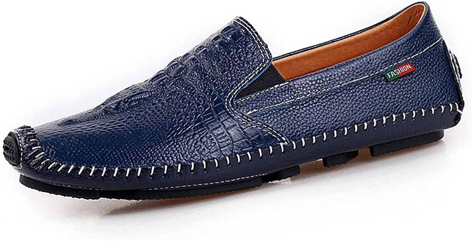 Moccasin-Gommino Men's Driving shoes Loafer Flats Leather Low Cut shoes Comfort Flats Business shoes Boat shoes