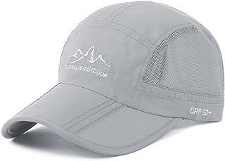 Estwell Unisex Baseball Cap Foldable Adjustable Baseball Hat Waterproof Quick Drying Outdoor Sport Running Cap