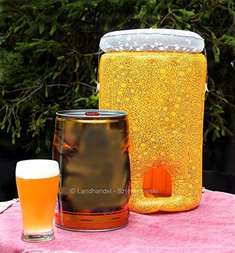 aufblasbarer Bierfasskühler Bierkühler Partyfass Kühler für 5 Lieter Fass
