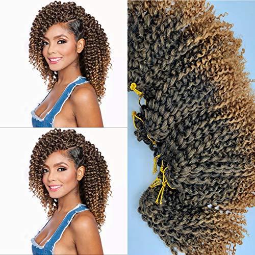 """8""""(20cm) 9 piezas (180 RAICES/270G) repartido en 3 paquetes de 90g de extensiones sinteticas rizadas para trenzas de ganchillo. fibra de Kanekalon, Curly Crochet. crochet hair"""