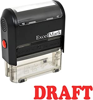 Draft Self Inking Rubber Stamp - Red Ink